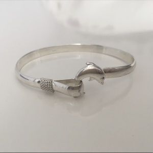 Jewelry - Sterling Silver Dolphin Bangle